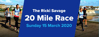 Ricki Savage 20-Mile Road Race FREE - 15 March 2020
